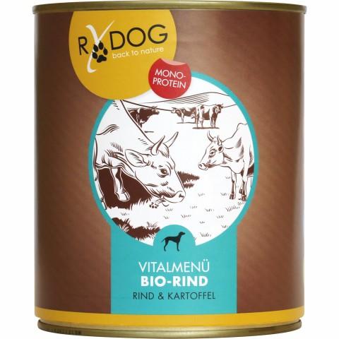 RyDog Vital Menu Organic Beef (Vitalmenü Bio-Rind) 800g (6 Piece)